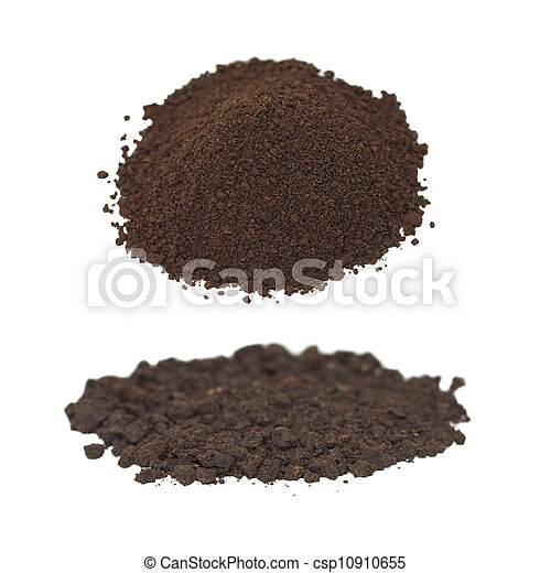 set pile dirt isolated on white  - csp10910655