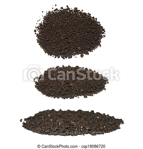set pile dirt isolated on white  - csp18086720