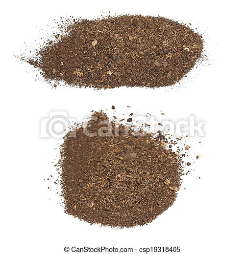 set pile dirt isolated on white  - csp19318405