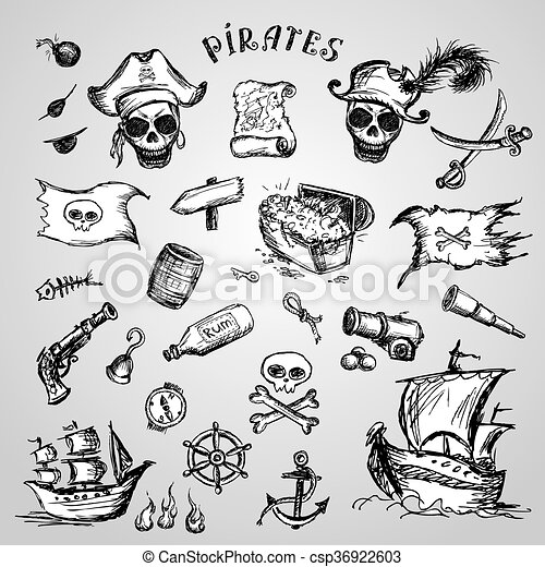 Piratas listas. - csp36922603