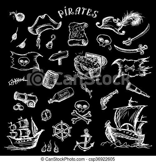 Piratas listas. - csp36922605