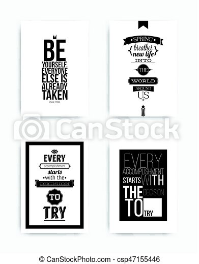 Set Posters Quote A Set Of Four Motivational Posters With Popular