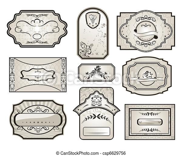 set retro variation vintage labels (7) - csp6629756