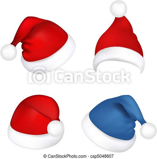 Set Santa Claus Hats - csp5048607