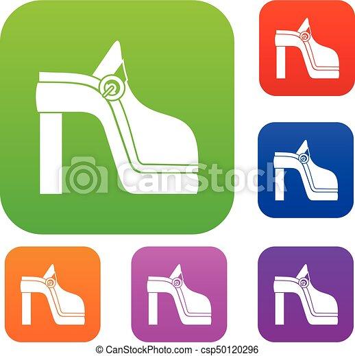 set, scarpa, collezione, donne - csp50120296