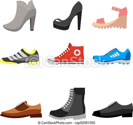 timeless design ffae6 f688a set., scarpe, tipi, icone