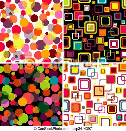 Set seamless patterns - csp3414397
