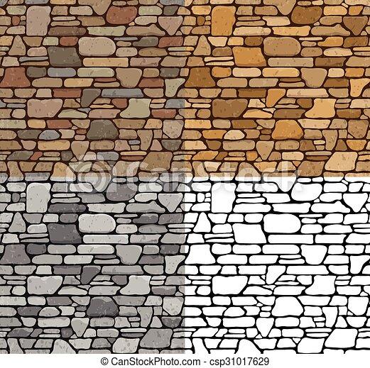 . Set Seamless Stone Textures