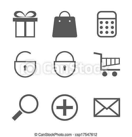 set, shoppen , iconen - csp17547612