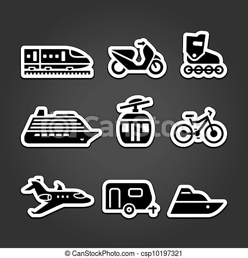 Set simple transportation icons - csp10197321