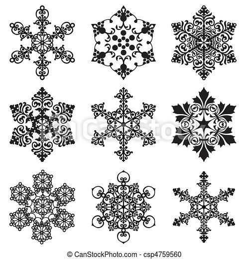 set snowflakes - csp4759560