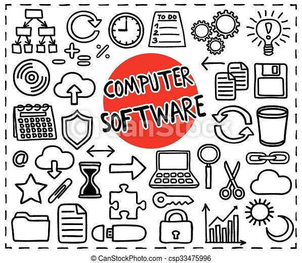 set., software computer - csp33475996