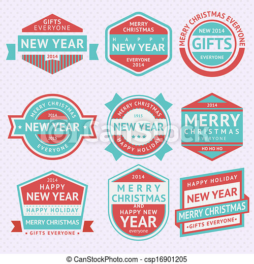 Set stickers for Christmas - csp16901205