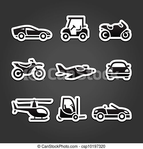 Set stickers transport icons - csp10197320
