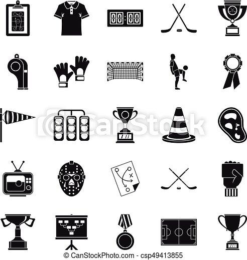 set, stijl, bounty, spotprent, iconen - csp49413855