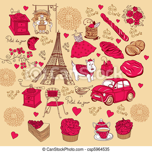 Set symbols of Paris - csp5964535