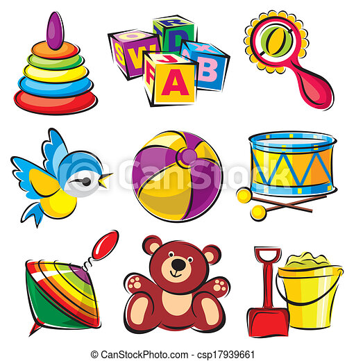 set toys set vector images of childrens toys and clip art vector rh canstockphoto com clipart of baby toys clipart of toys and games