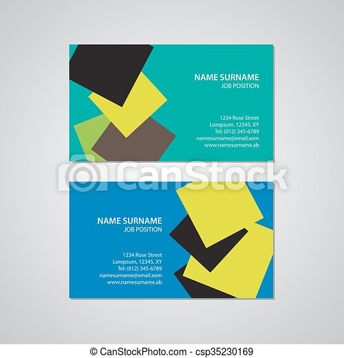 set - two business cards - csp35230169