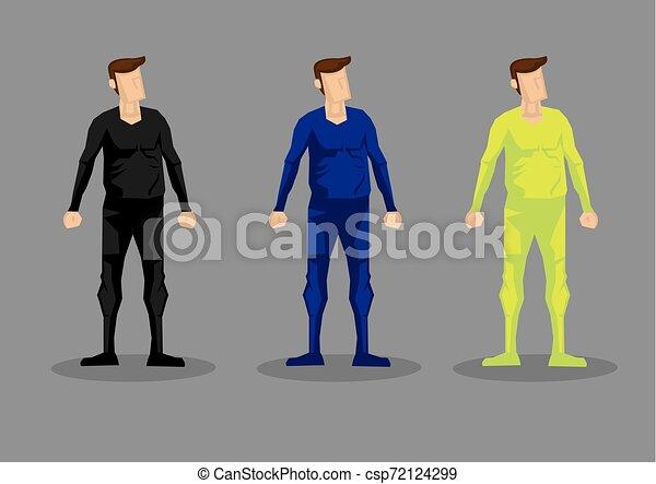 set, uomini, carattere, bodysuit, vettore, moda - csp72124299