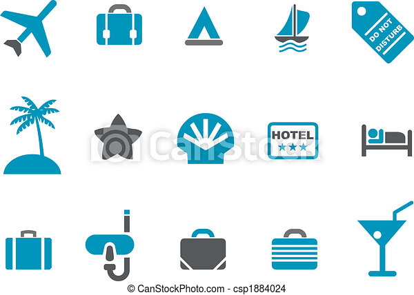 set, vacanza, icona - csp1884024