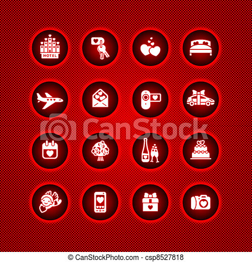 Set valentine's day icons - csp8527818