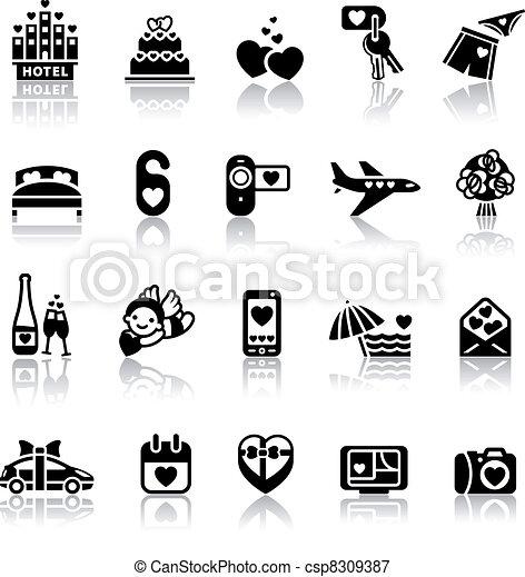 Set valentine's day icons - csp8309387