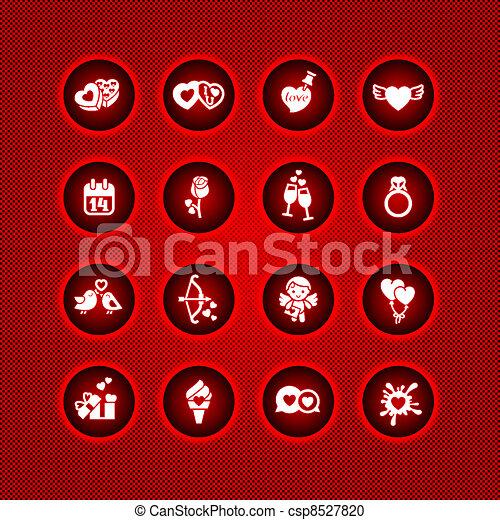 Set valentine's day icons - csp8527820