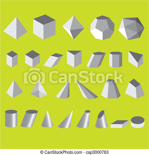 Set vector illustration simple shapes geometric - csp3000763