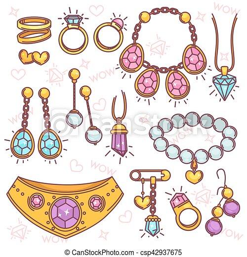 Vector de joyería de moda listo. - csp42937675