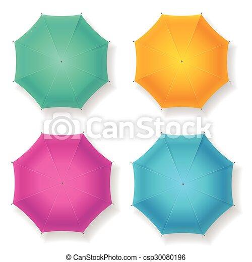 Umbrella set. Vector - csp30080196
