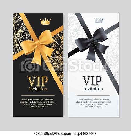 Invitación Vip Y Juego De Cartas Vector Invitación Vip Y