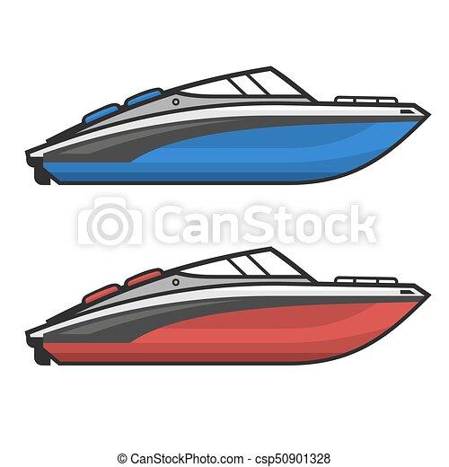 set., vektor, motor, halad hajózik, ikon - csp50901328