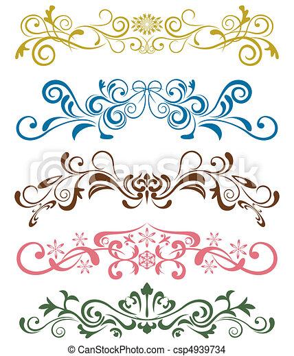 set, versieringen, ontwerp - csp4939734