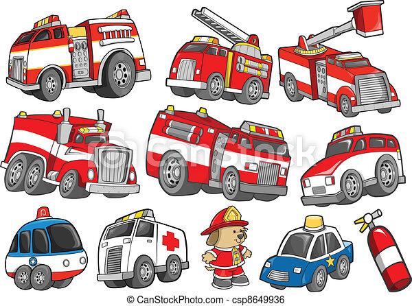 set, vervoer, het voertuig van de redding - csp8649936