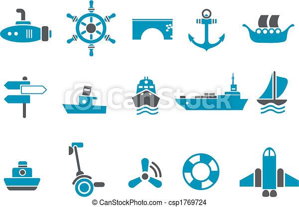 set, vervoeren, pictogram - csp1769724
