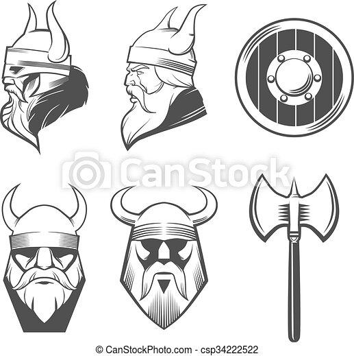 set viking head - csp34222522
