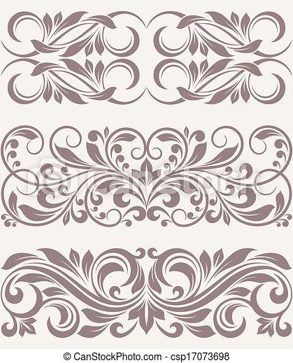 set vintage ornate border frame filigree - csp17073698