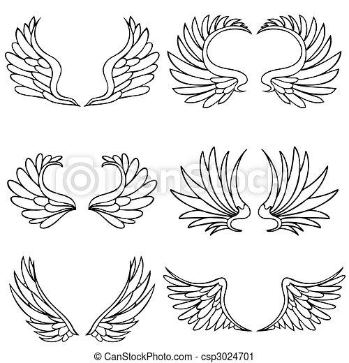 set, vleugel, engel - csp3024701