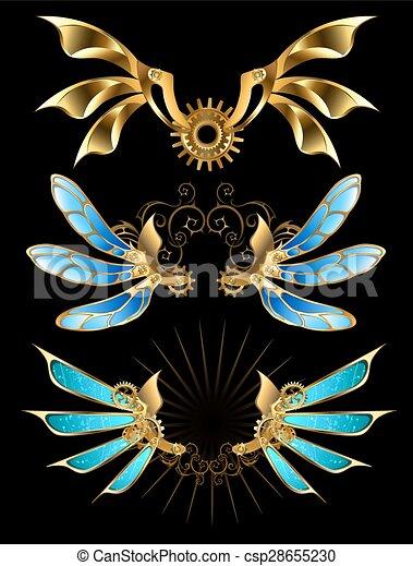 set, vleugels, mechanisch - csp28655230