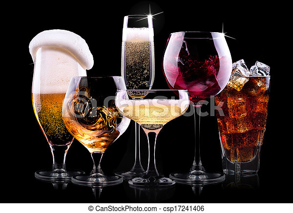 set with different  drinks - csp17241406