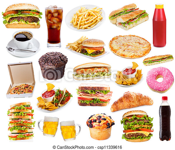 Set with fast food products - csp11339616