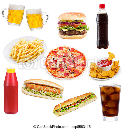 Set with fast food products - csp8583115
