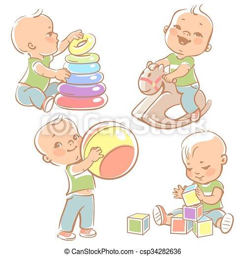 Set with kids playing - csp34282636