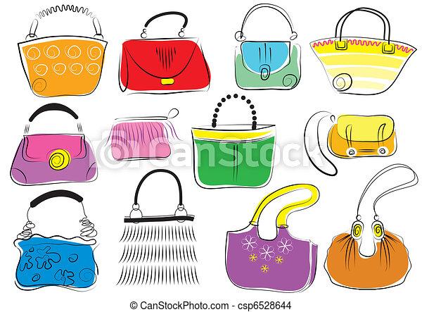 Set woman s bags vector. 154b98ed82