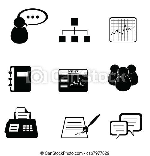 set, zakelijk, pictogram - csp7977629