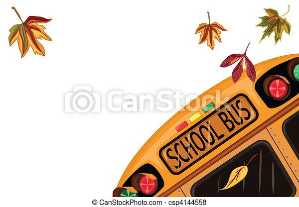 setembro, escola, costas - csp4144558