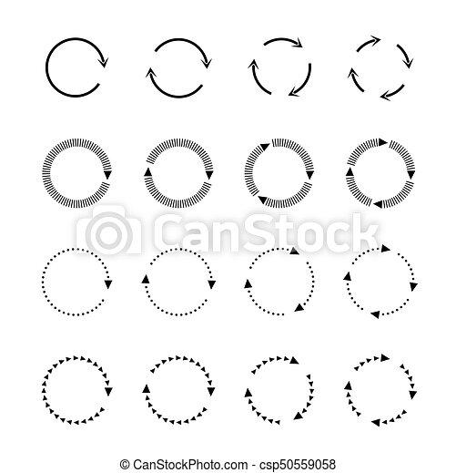 Sets of black circle arrows. Vector Icons - csp50559058