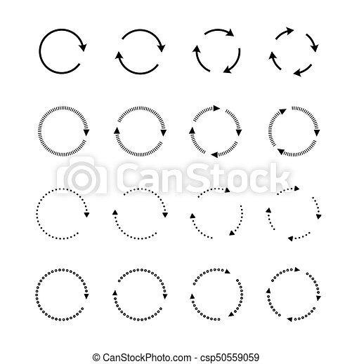 Sets of black circle arrows. Vector Icons - csp50559059