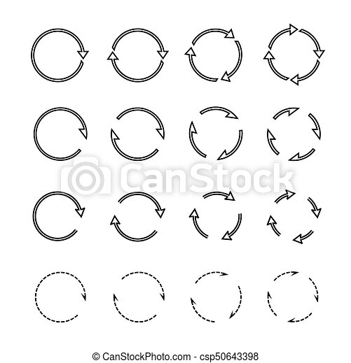 Sets of black circle arrows. Vector Icons - csp50643398