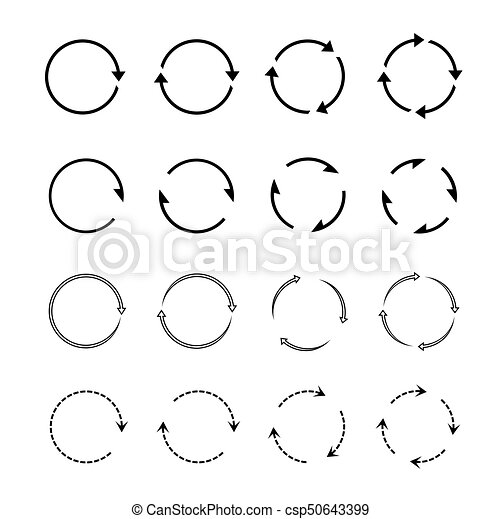 Sets of black circle arrows. Vector Icons - csp50643399